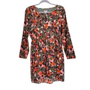 J Crew Floral Long Sleeve Lightweight Dress size 6